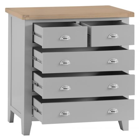 Trent 2 Over 3 Chest Of Drawers Grey