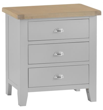 Trent 3 Drawer Chest Of Drawers Grey