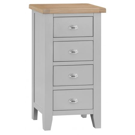 Trent 4 Drawer Narrow Chest Of Drawers Grey