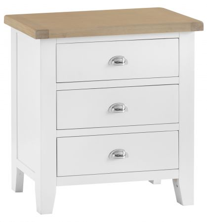 Trent 3 Drawer Chest Of Drawers White