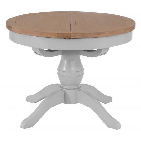 Trent 1.1M Round Butterfly Extending Table Grey