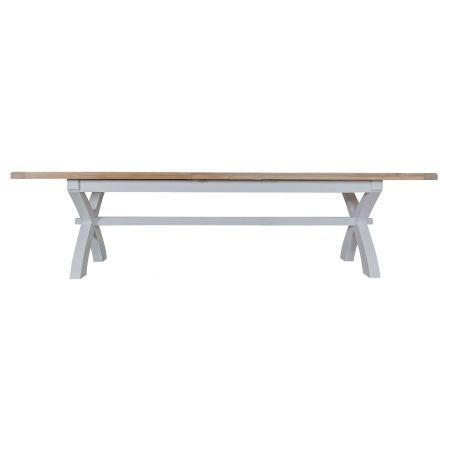 Trent Butterfly 2.5M Extending Table Grey