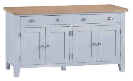 Trent Large 4 Door Sideboard Grey