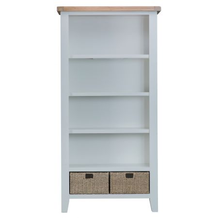 Trent Wooden Bookcase Grey