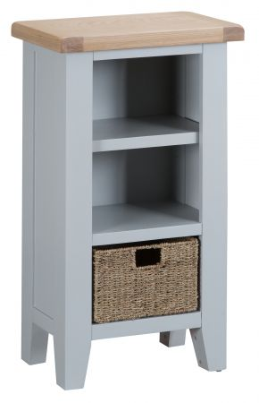 Trent Small Narrow Bookcase Grey