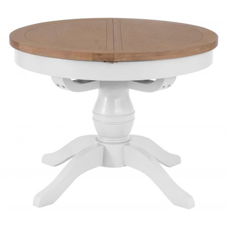 Trent Round Butterfly 1.1M Extending Table White
