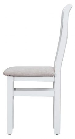 Trent Upholstered Cross Back Chair White