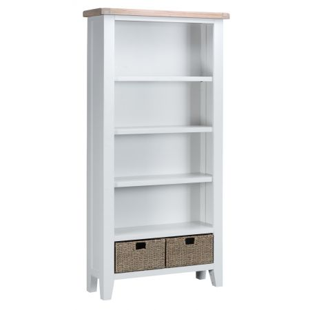 Trent Wooden Bookcase White