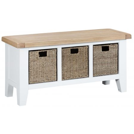 Trent Hall Bench White