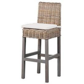 Wenyard Wicker Bar Stool With Cushion