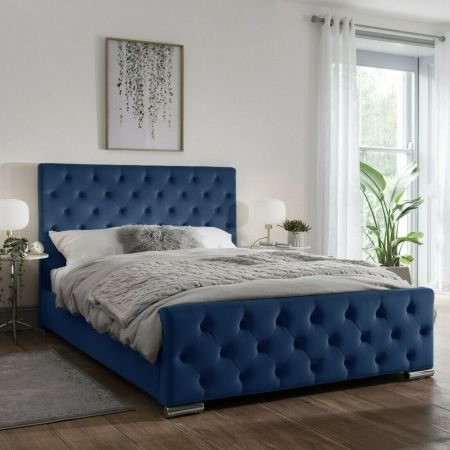 Brincia Chesterfield Upholstered Fabric Stunning Bed Frame
