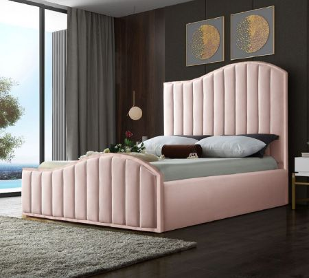 Mastero Plush Velvet Fabric Bed