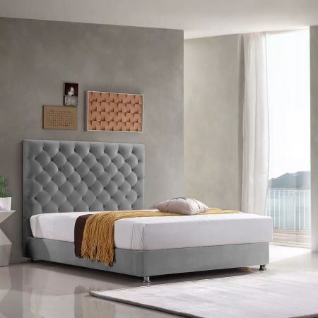 Monaco Plush Velvet Fabric Bed Frame