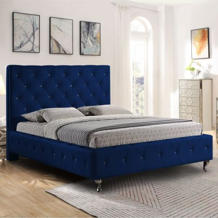 Bianca Plush Velvet Fabric Bed Frame