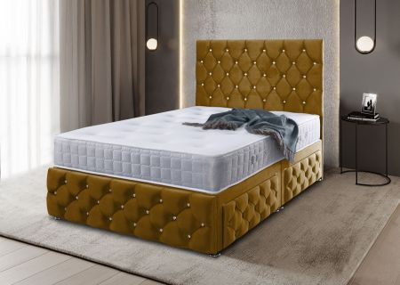 Kenneth Plush Velvet Divan Bed Frame