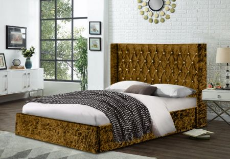 Enchanted Crush Velvet Fabric Bed Frame