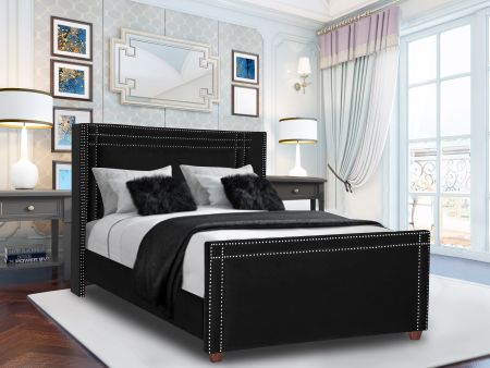 Coldan Plush Velvet Fabric Bed Frame