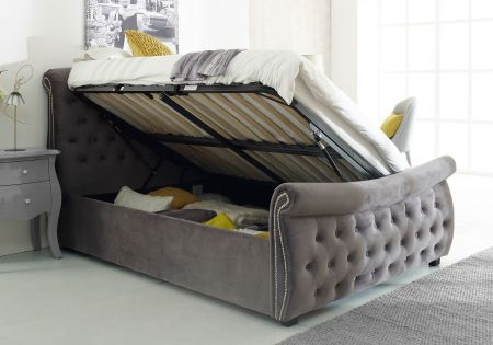Cinda Chesterfield Side Lift Ottoman Bed