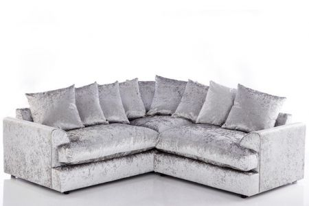 Felix Crush Velvet Corner Sofa Set