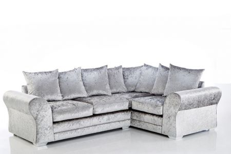Janice Crushed Velvet Sofa Set