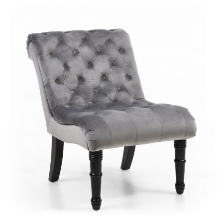 Mikel Brushed Velvet Accent Chair