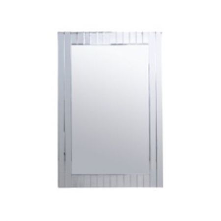 Glitz Rectangular Striped Mirror