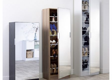 Mirrored Shoe Cabinet 180cm