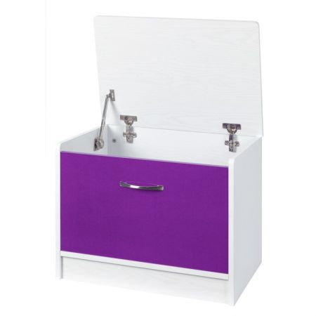Marina Purple Gloss & White Ottoman Storage