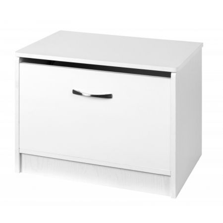 Marina White Gloss Two Tone Ottoman Storage