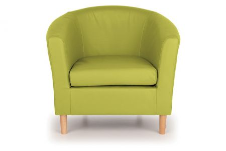 Nicole Faux Leather Tub Chair - Lime