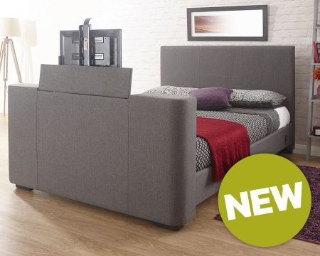 George Fabric TV Bedstead