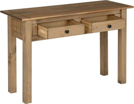 Pansiera 2 Drawer Console Table Natural Wax