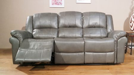 LIVISA Leather Recliner Sofa Set