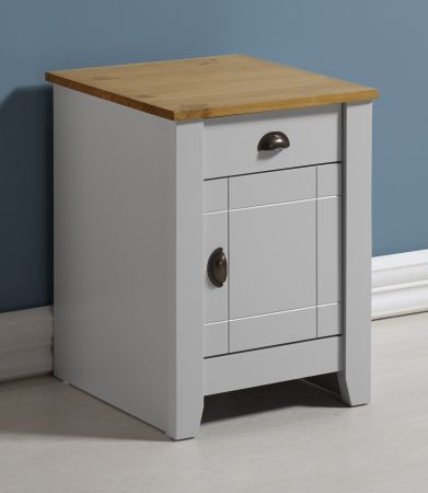 Louis 1 Drawer 1 Door Bedside Cabinet