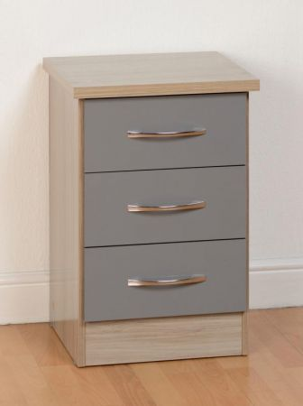 Maison 3 Drawer Bedside