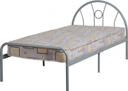 Melville Single Bed in Silver