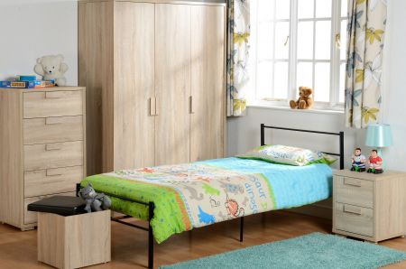 Camberwell 2 Drawer Bedside Chest in Sonoma Oak Veneer