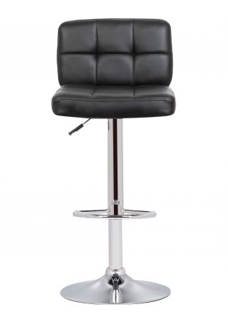 Montrose Swivel Bar Chair With Gas Lift in Black & Chrome
