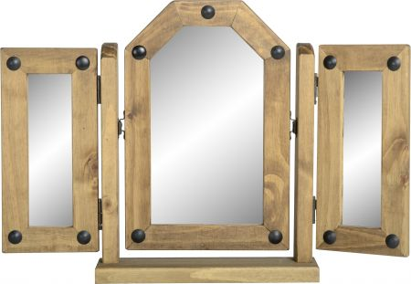 Darwin Triple Swivel Mirror in Pine