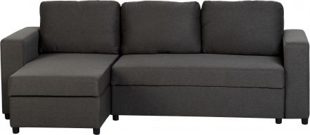 Linea Corner Sofa Bed in Dark Grey Fabric