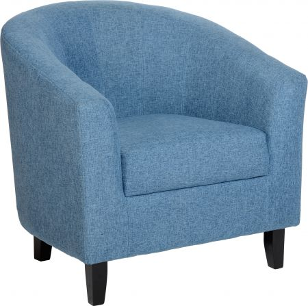 Corsair Tub Chair in Blue Fabric
