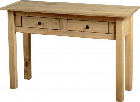 Majesty 2 Drawer Console Table in Natural Wax