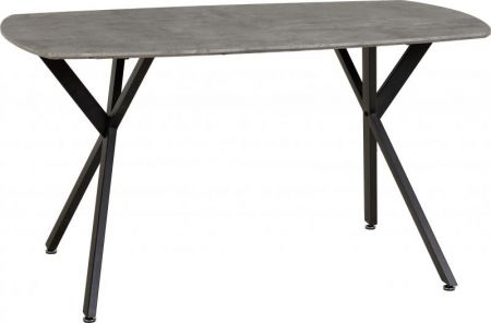 Balmoral Dining Table in Concrete Effect/Black