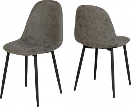 Balmoral Chair in Grey Faux Leather x 2