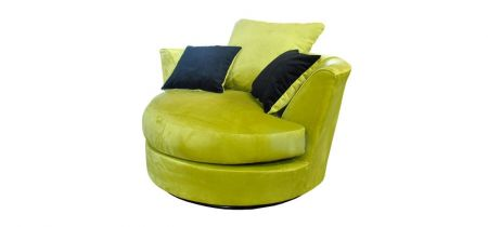 Mylon Plush Velvet Swivel Chair