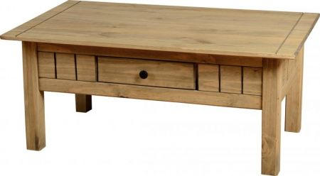 Majesty 1 Drawer Coffee Table in Natural Wax