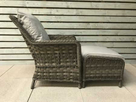 Miami 5 Piece Lounge Set In Grey Weave