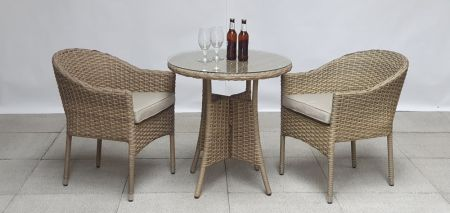 Delia 2 Seat Bistro Set With Stacking Chairs