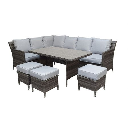 Edawa Corner Dining Multi Grey Wicker