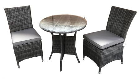 Emira 2 Seat Bistro Set With Armless Chairs